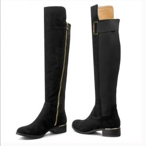 Calvin Klein suede over the knee boots